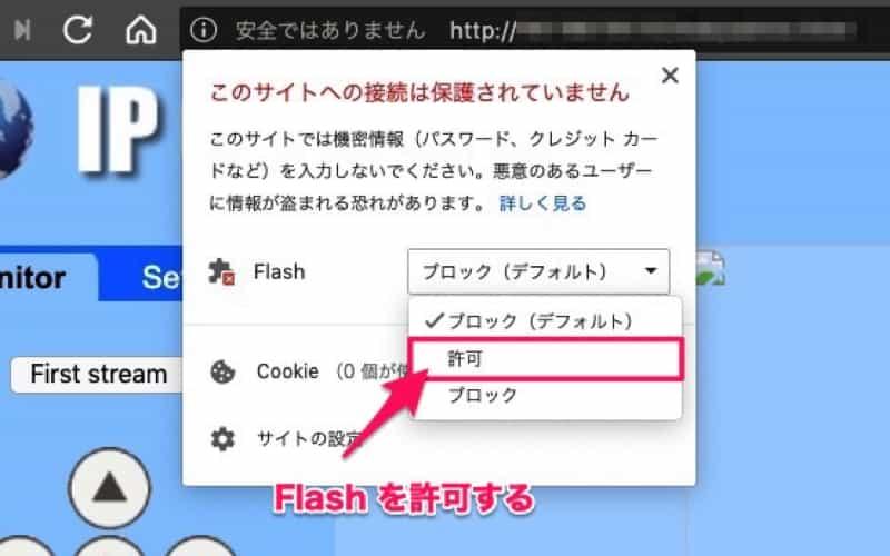 Flash表示許可